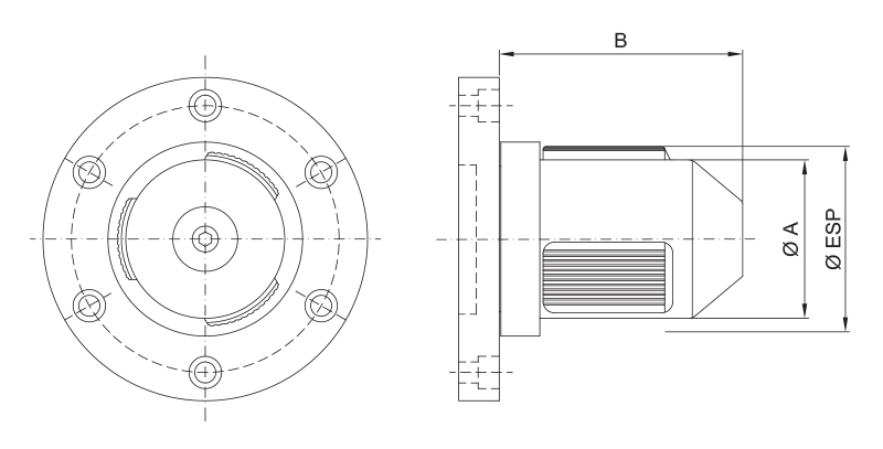 CK-S - Single Diameter Core Chuck - Schematic